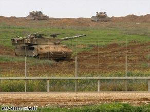 tanks vacating gaza