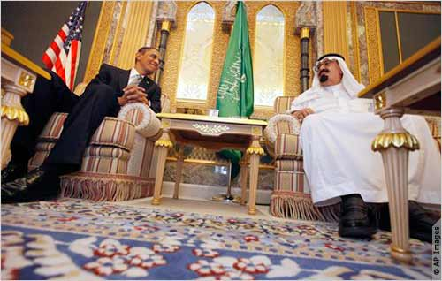 President Obama and King Abdullah in Riyadh on 3rd June 2009