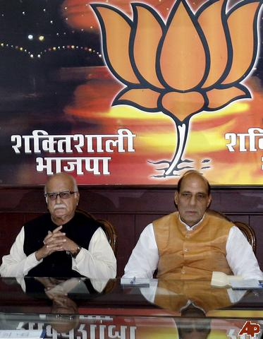 "L K Advani and Rajnath Singh  ""Do they look Confident"""