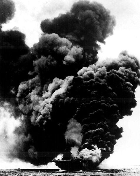 Bunker Hill Burning USS 1945