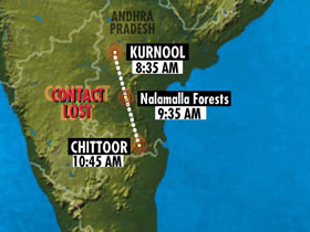 Chopper Found in Mangled Sate 40 notical miles from Kurnool.  The State is which the chopper is not very clear yet.