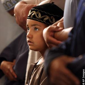 Muslims Performing Taraweeh Night  Prayers in Austrialian Mosque.