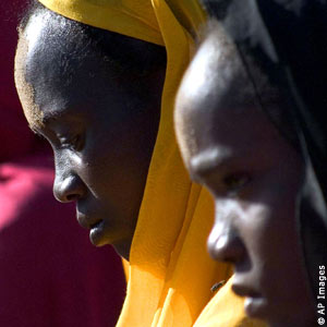 Sudan African Women Praying for Peace and Happiness of all Mankind in a Private Gathering on Darfur Holiday